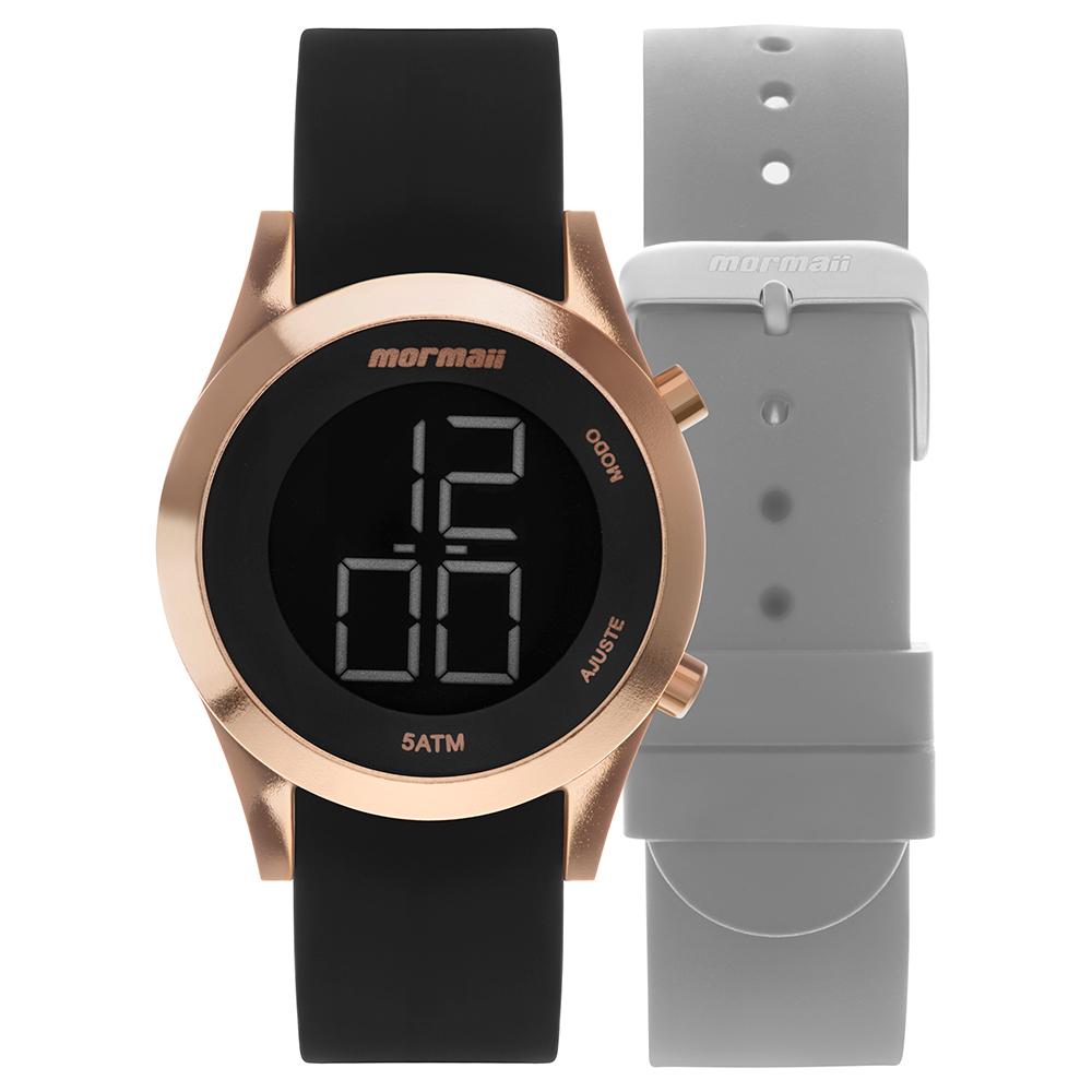 Kit Relógio Mormaii Troca pulseiras MOMD1201AG/T8J