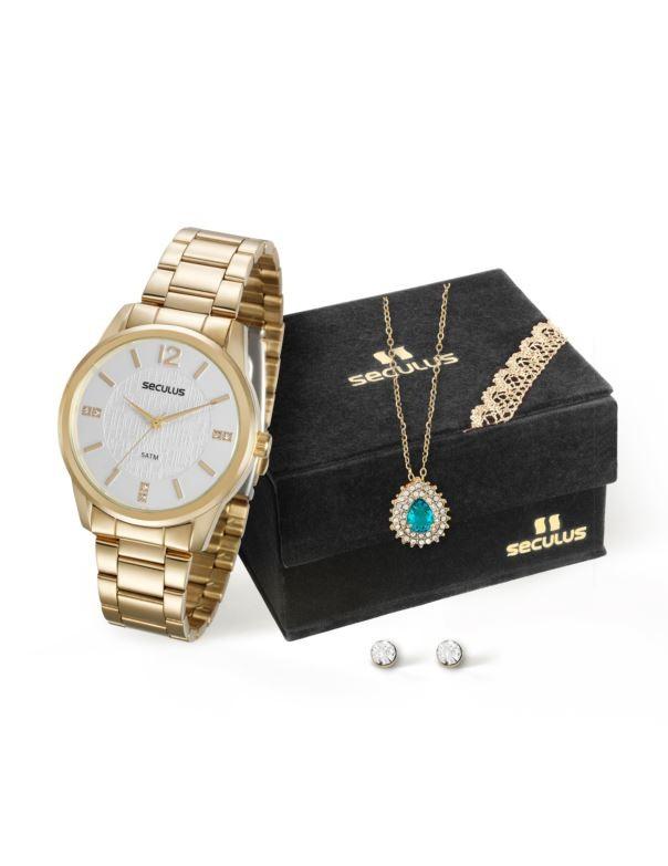 Kit Relógio Seculus Feminino 20513LPSVDS1K1