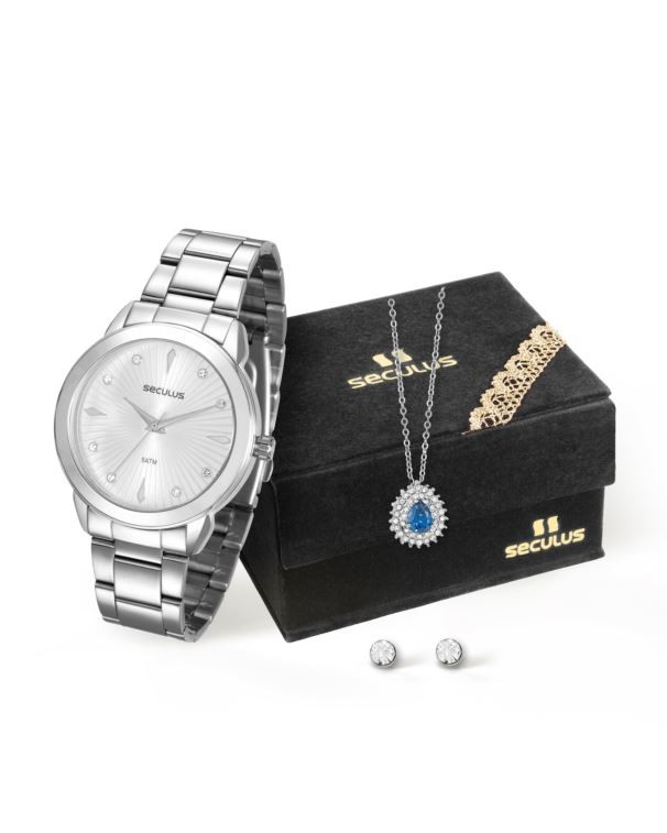 Kit Relógio Seculus Feminino 20517L0SVNS2K1