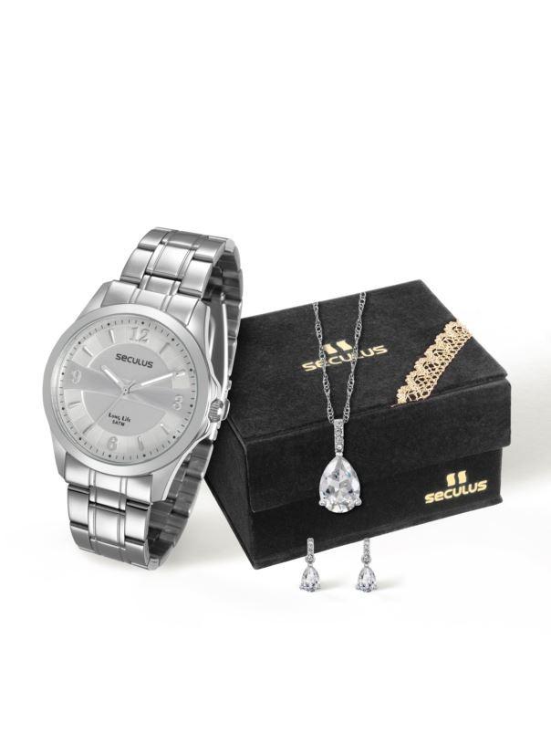 Kit Relógio Seculus Feminino 28736L0SVNA2K1