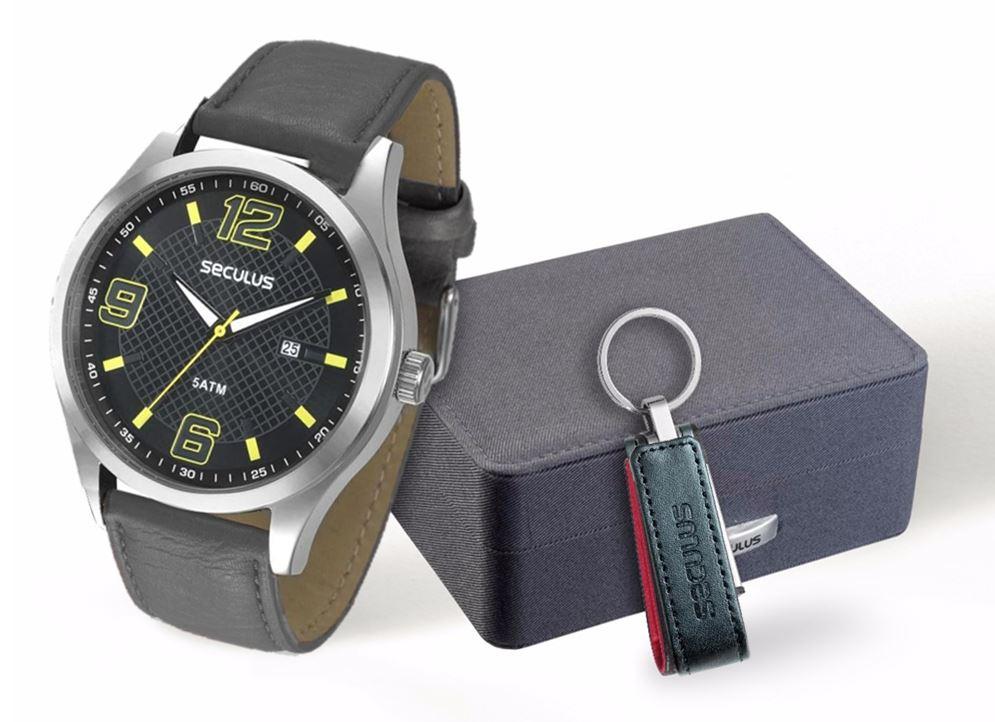 Kit Relógio Seculus Masculino 28561G0SGNC1