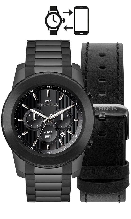 9710b3efb8f Relógio Smartwatch Technos Connect Masculino M1AB 4P - Relógios de ...