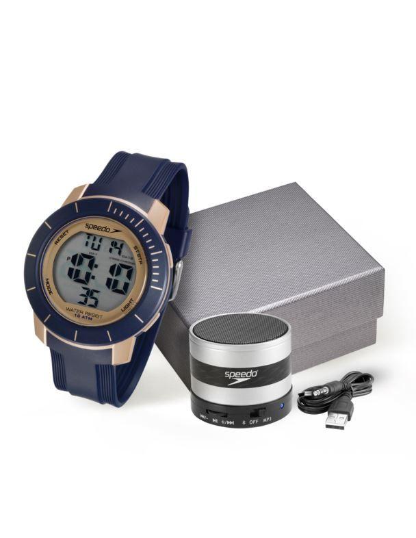 Kit Relógio Speedo Masculino + Caixa de Som Bluetooth  80601G0EVNP3K1