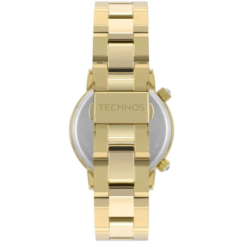 Kit Relógio Technos Crystal Rocks Dourado 2039BU/K4C