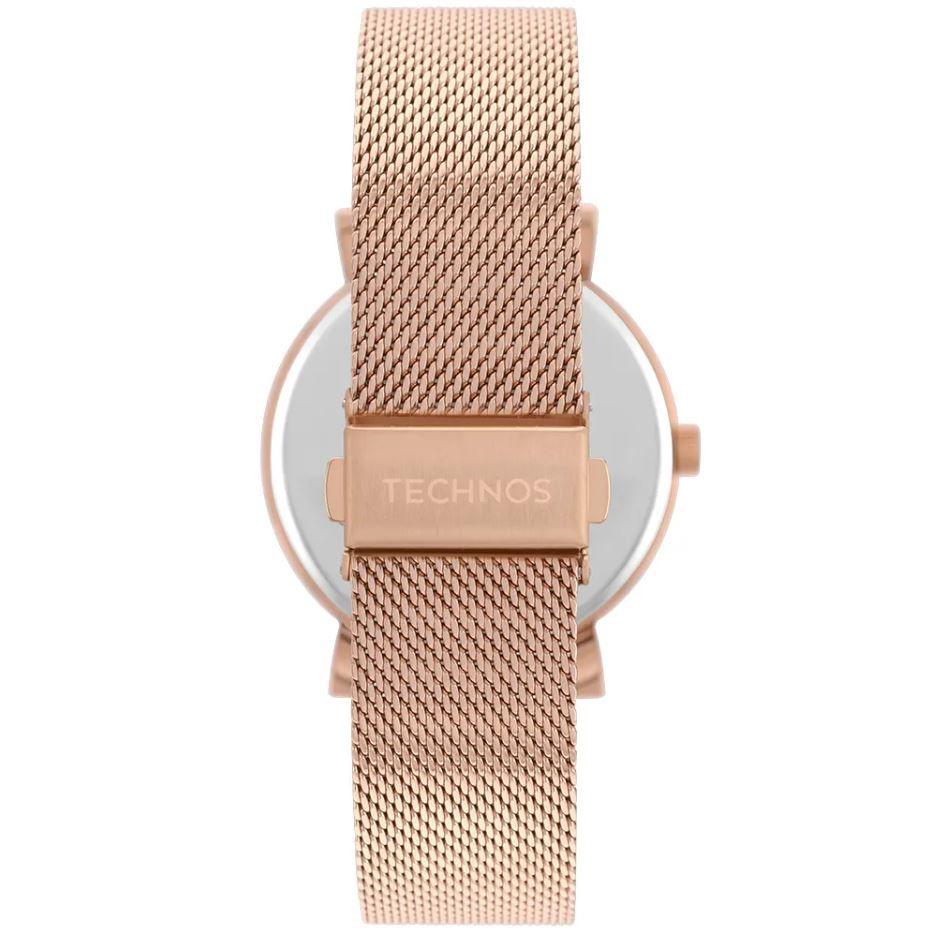 Kit Relógio Technos Dress Rose Feminino + Pulseira 2035MRA/K4B