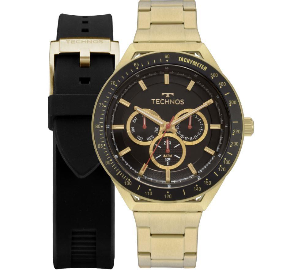 Kit Relógio Technos Troca Pulseiras Masculino 6P29AKA/T2P