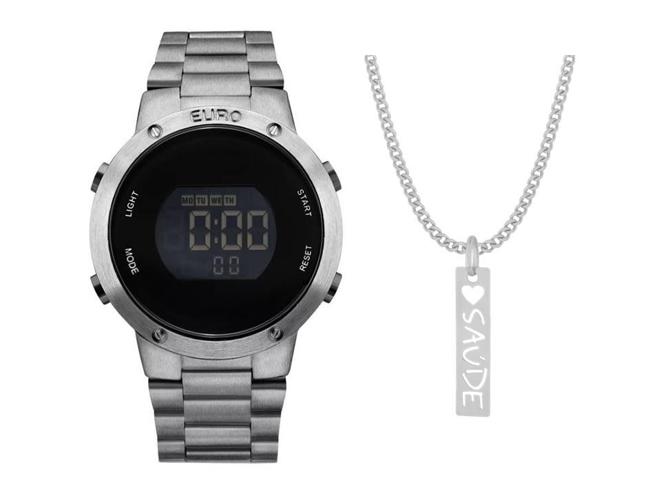 Relógio Euro Feminino Fashion Fit EUBJ3279AE/4K + Corrente Saúde
