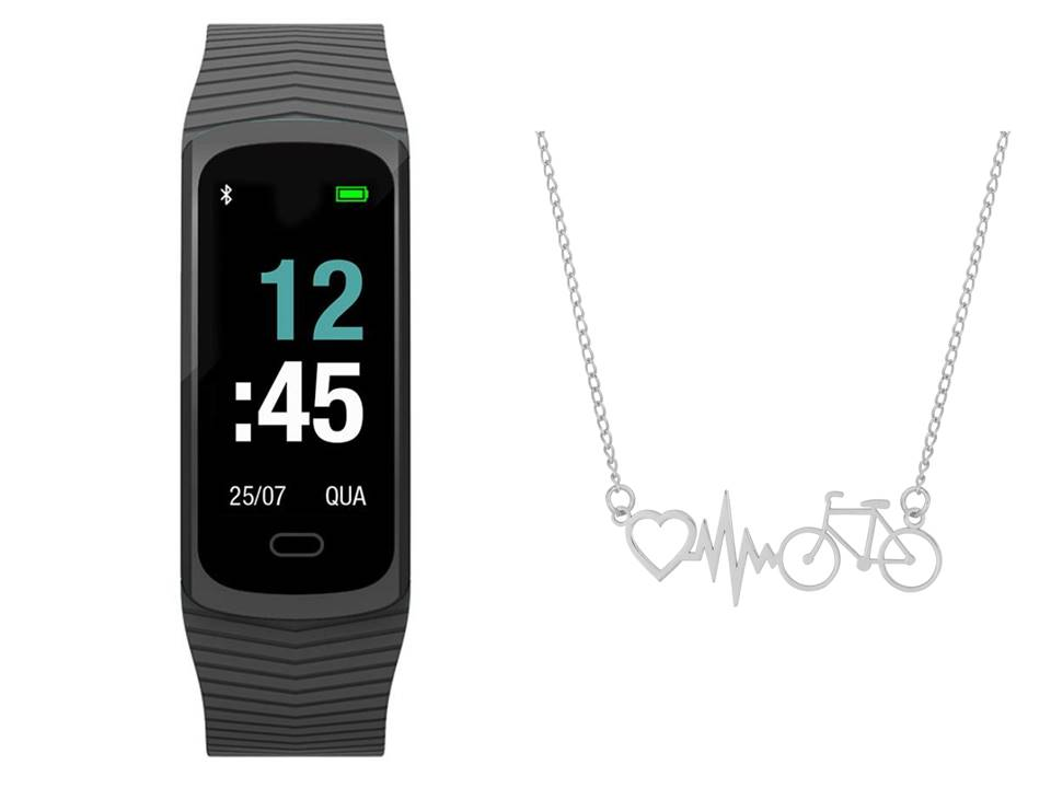 Mormaii Smart Fit GPS Pulseira Esportiva MOB3AA8P + Cordão Bike