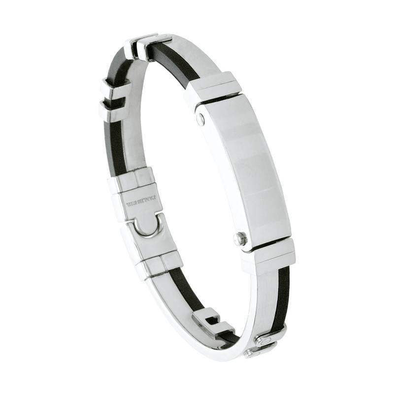 Pulseira Convex de Aço Algema Caucciu 12mm Masculina 2700069