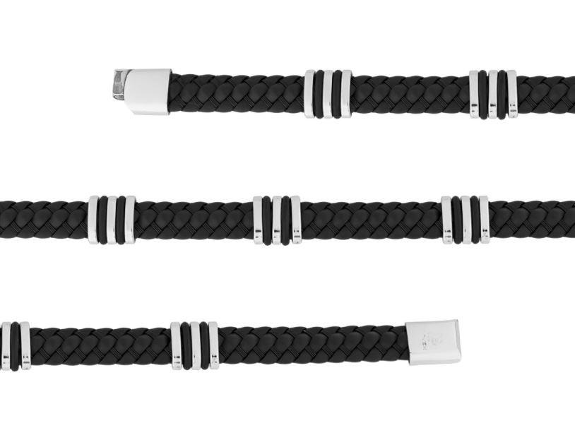 Pulseira de Aço Convex Masculina Staple Black 2700694