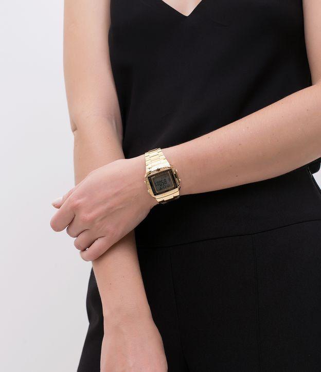 Relógio Casio Data Bank Dourado Unissex DB-360G-9ADF