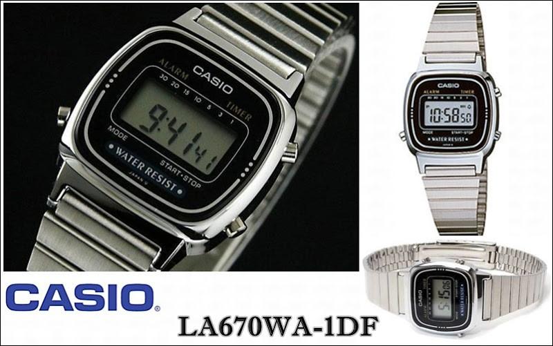 Relógio Casio Vintage Feminino LA670WA-1DF
