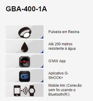 Relógio Casio G-Shock G'MIX Masculino GBA-400-1A9DR