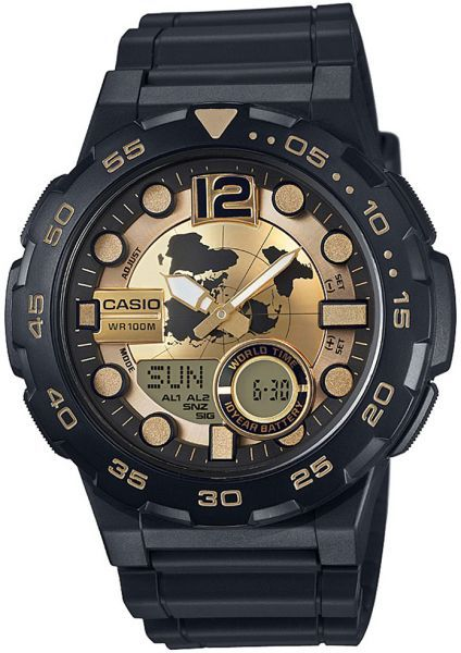 Relógio Casio Masculino Bateria 10 ANOS AEQ-100BW-9AVDF