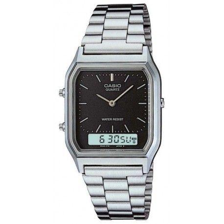 Relógio Casio Unissex Vintage Anadigi AQ-230A-1DMQ