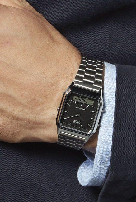 a2eab86976d Relógio Casio Unissex Vintage AQ-230A-1DMQ - Relógios de Fábrica