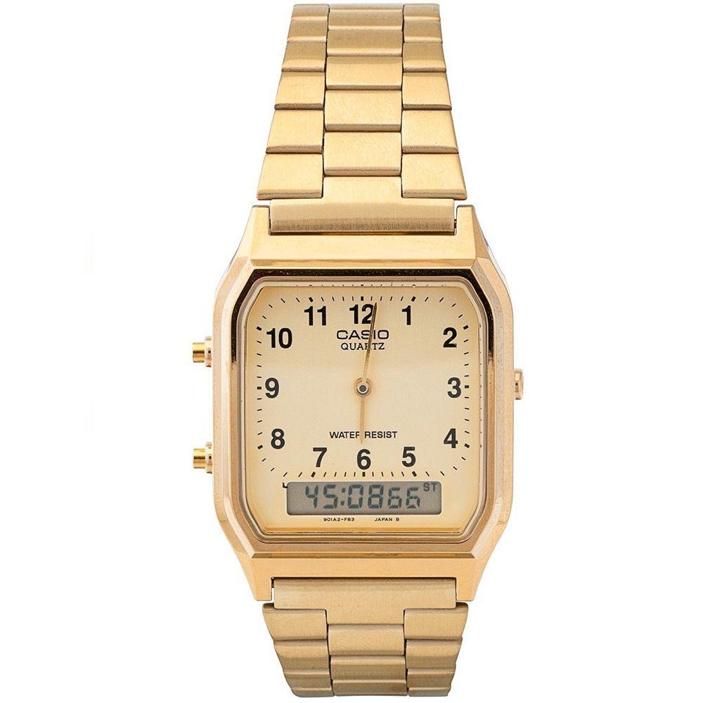 Relógio Casio Unissex Vintage AQ-230GA-9BMQ