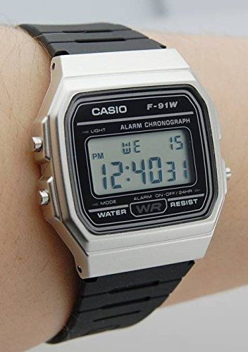 Relógio Casio Vintage Unissex F-91WM-7ADF