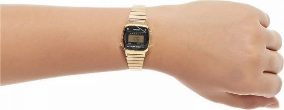 Relógio Casio Vintage Diamonds Dourado Feminino LA670WGAD-1DF