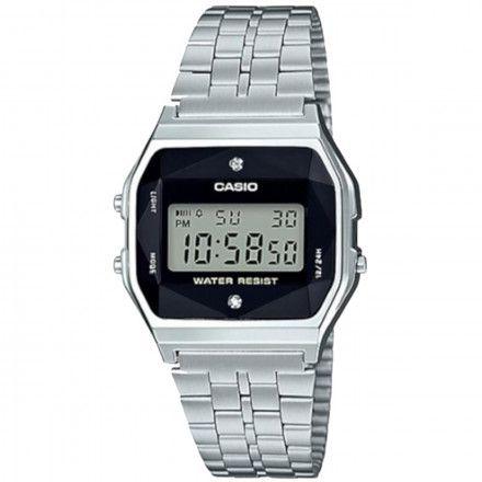 Relógio Casio Vintage Diamonds Prata Unissex A159WAD-1DF