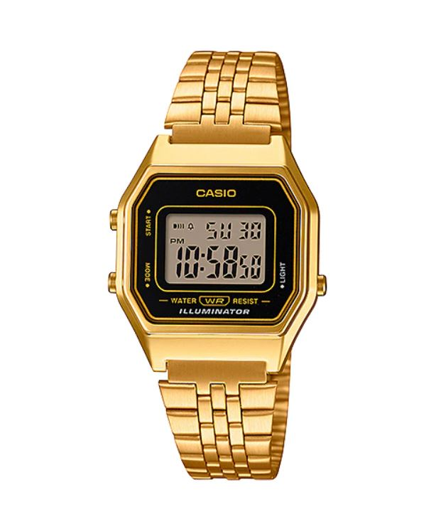 Relógio Casio Vintage Dourado LA680WGA-1DF