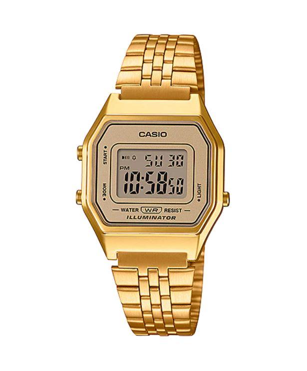 Relógio Casio Vintage Dourado LA680WGA-9DF