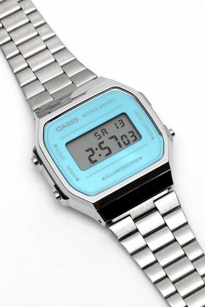 Relógio Casio Vintage Espelhado Azul Unissex A168WEM-2DF