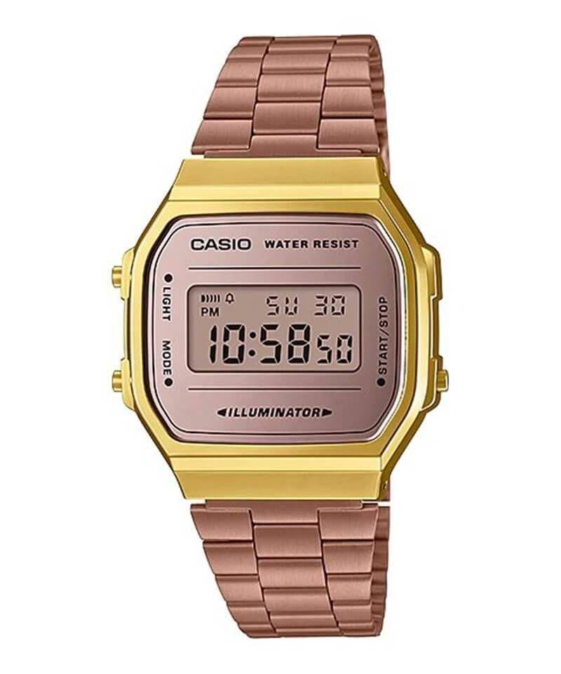 7cb562d645f Relógio Casio Vintage Espelhado Bicolor Rose Dourado Unissex A168WECM-5DF