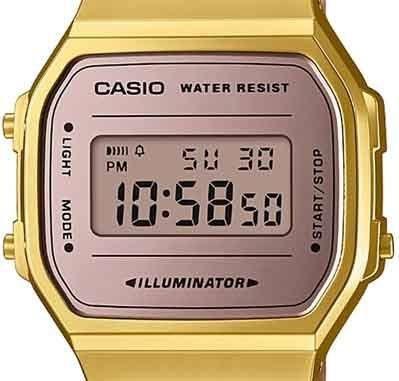 Relógio Casio Vintage Espelhado Bicolor Rose/Dourado Unissex A168WECM-5DF