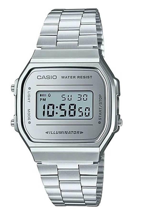 5327e5f1a0f Relógio Casio Vintage Espelhado Prata Unissex A168WEM-7DF - Relógios ...