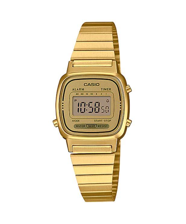 Relógio Casio Vintage Mini Dourado LA670WGA-9DF