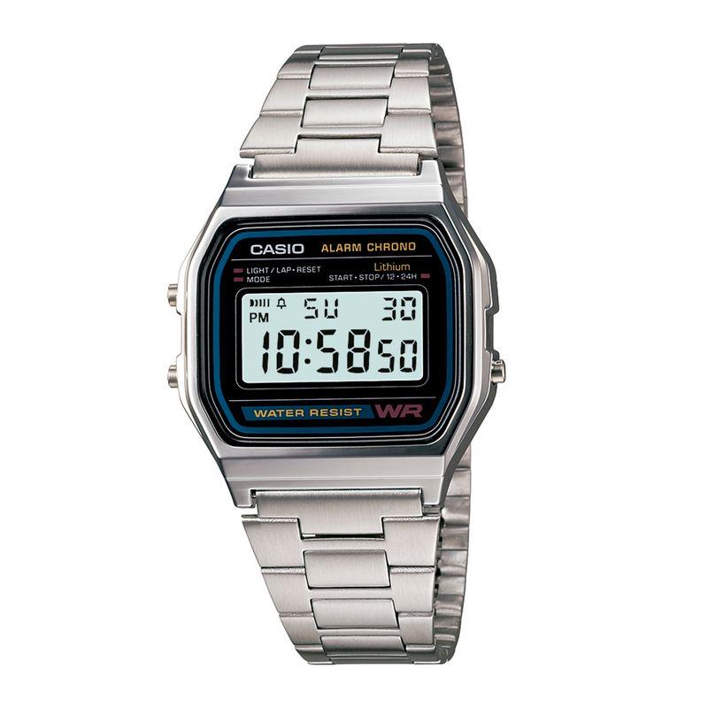 Relógio Casio Vintage Prata A158WA-1DF