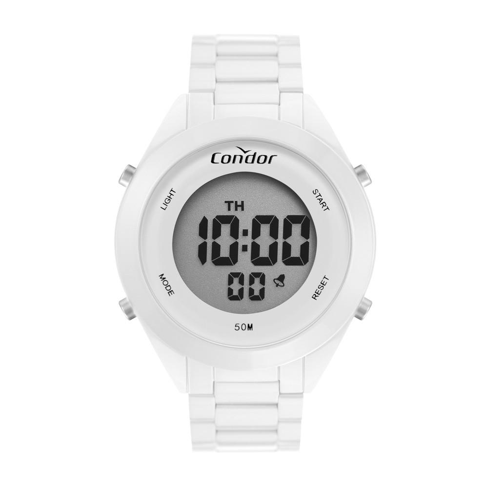 Relógio Condor Branco Digital COAE19432AM/4B