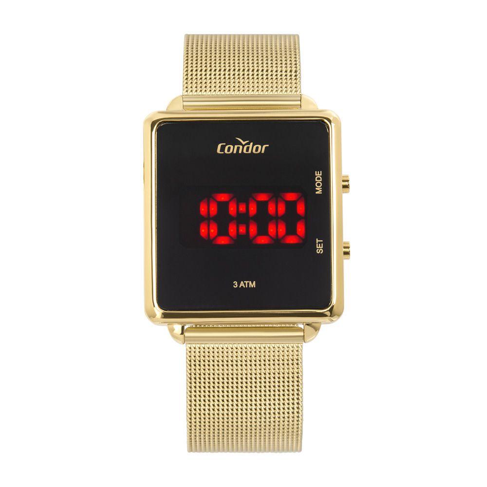 Relógio Condor Digital Dourado Unissex COJHS31BAA/4X