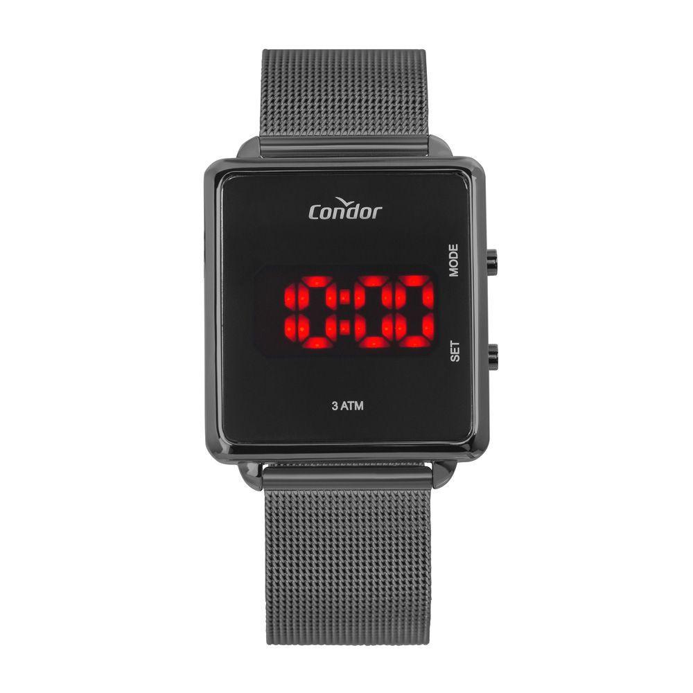 Relógio Condor Digital Grafite Unissex COJHS31BAC/4C
