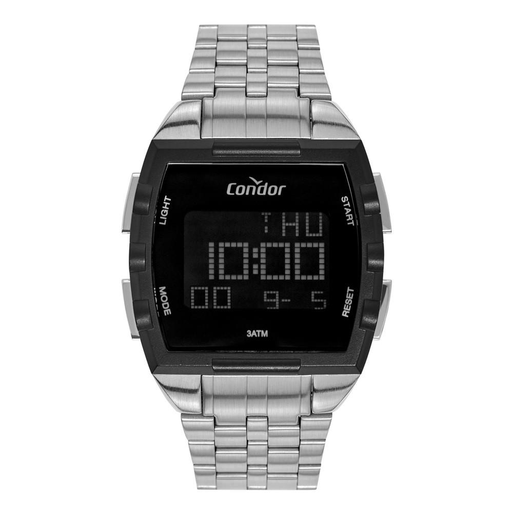 Relógio Condor Digital Prata Masculino COBJ2649AC/3K