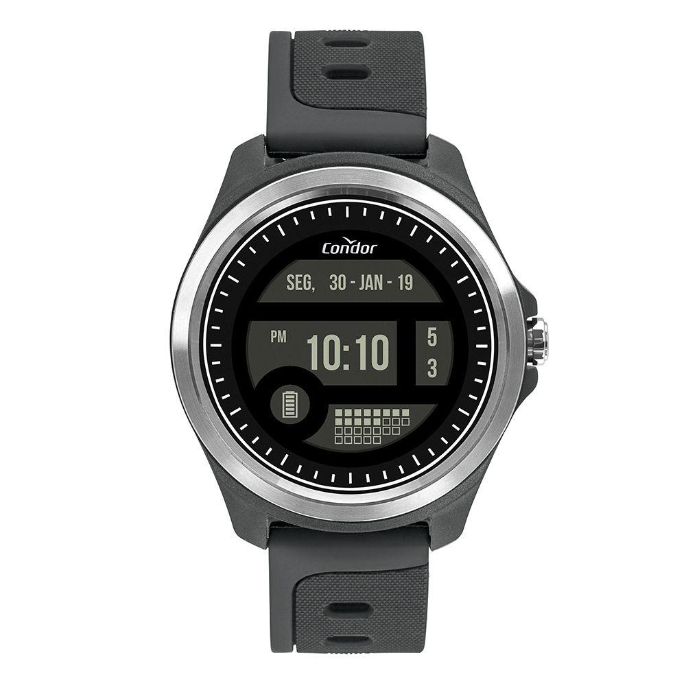 Relógio Condor Digital + Touchscreen  Prata Masculino COKW05CAA/8C