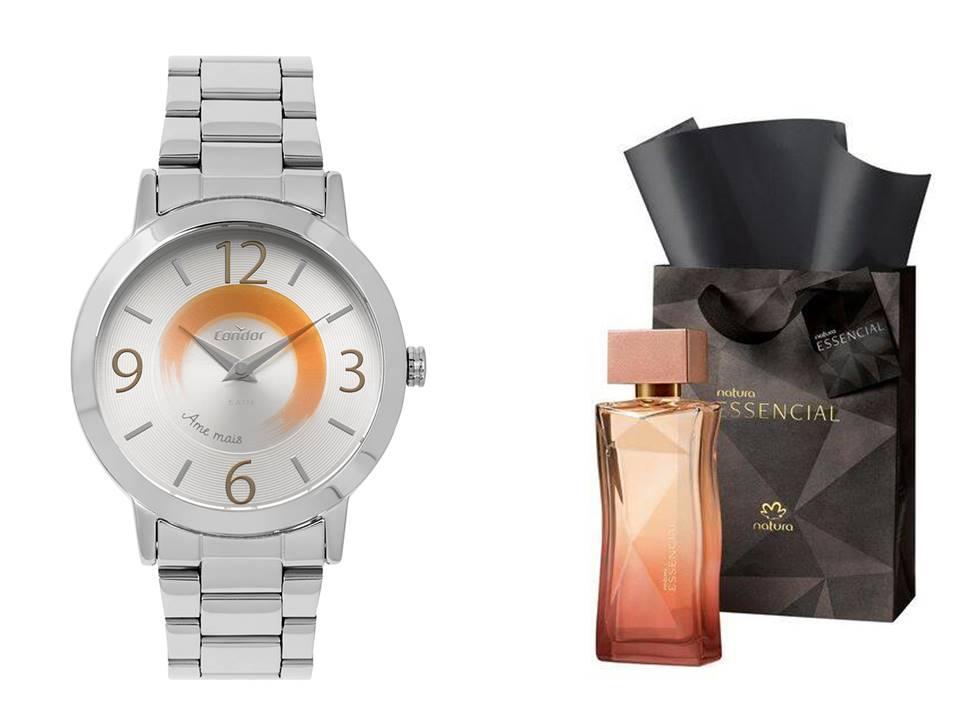 Relógio Condor Feminino CO2034AB/K3K + Perfume Essencial 100ml