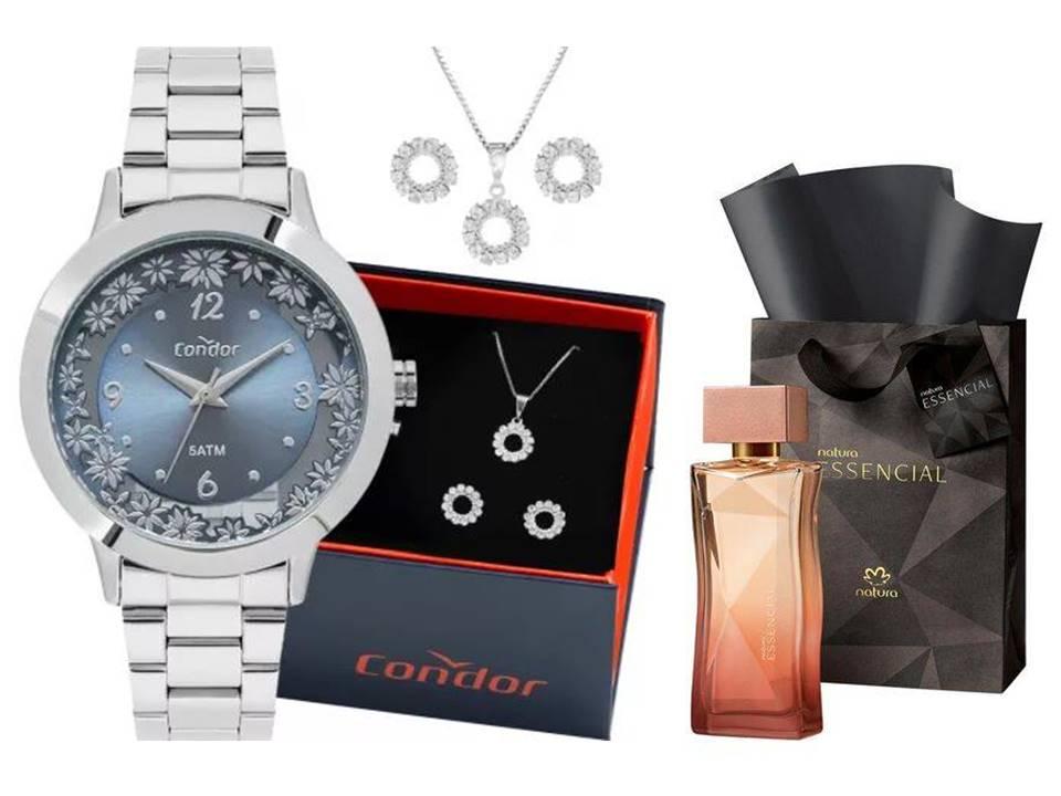 Relógio Condor Feminino CO2039BG/K3A + Perfume Essencial 100ml