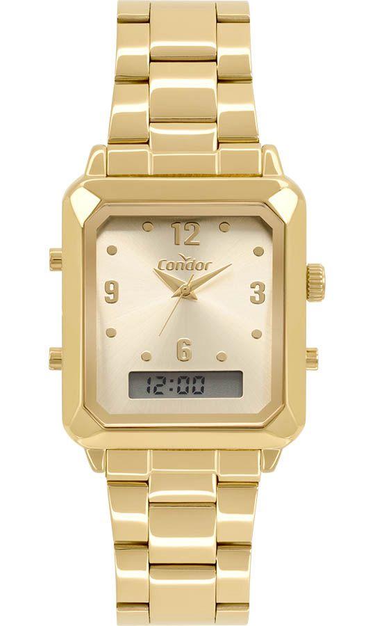 Relógio Feminino Condor Top Fashion Dourado COBJ3718AB/4X