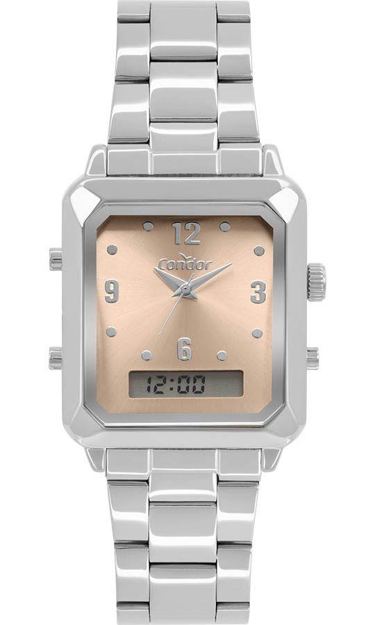 Relógio Condor Top Fashion Prata Feminino COBJ3718AC/4M