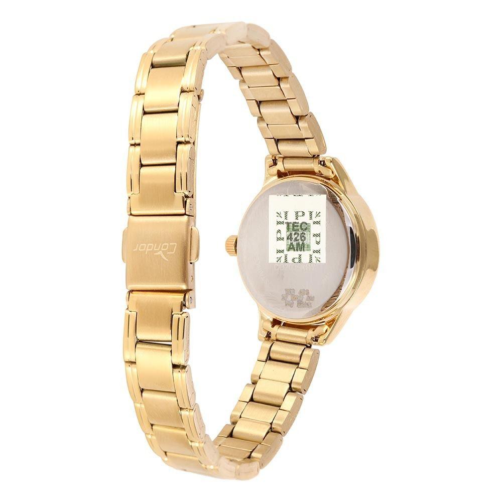 Relógio Condor Mini Dourado Feminino CO2035KRY/4D