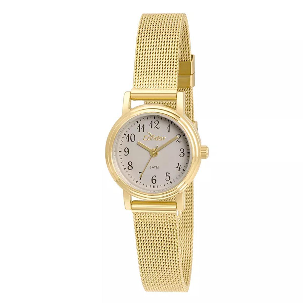 Relógio Condor Mini Dourado Feminino CO2035KTZ/4C