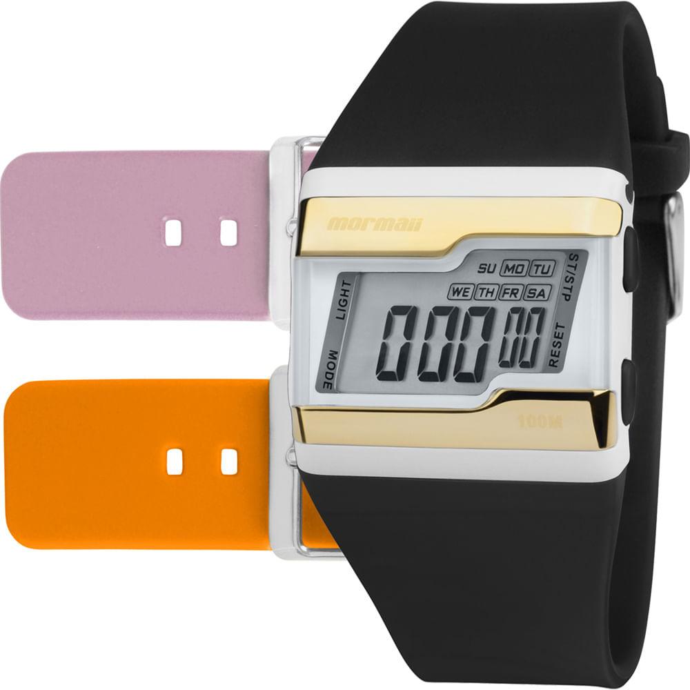 Relógio Digital Mormaii Acquarela Troca Pulseiras FZW/T8E