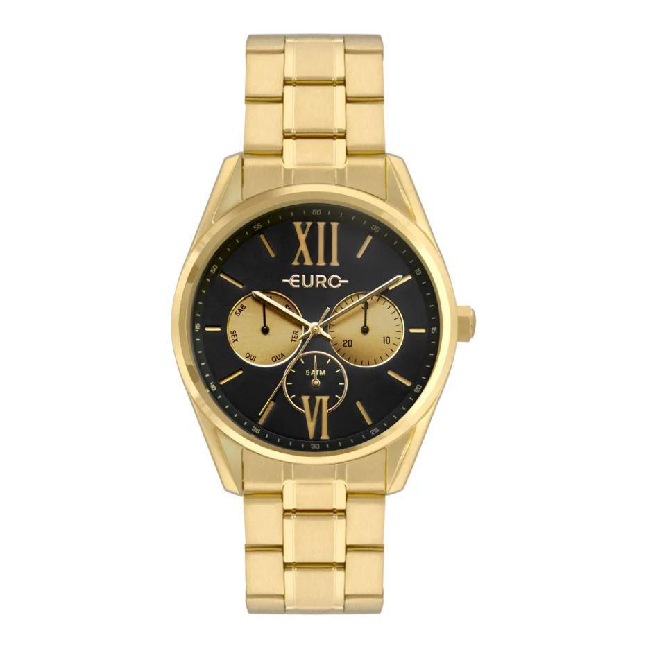 Relógio Euro Multiglow Dourado Feminino EU6P79AD/4P