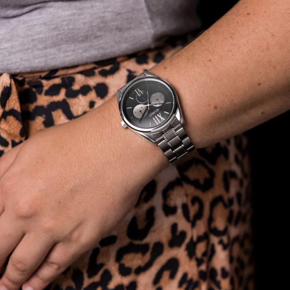 Relógio Euro Multiglow Prata Feminino EU6P79AC/3P