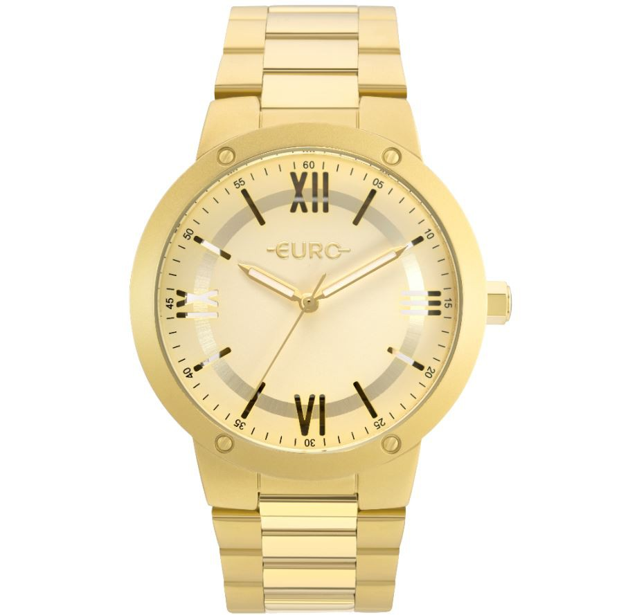 Relógio Feminino Euro Dourado EU2035YMU/4D