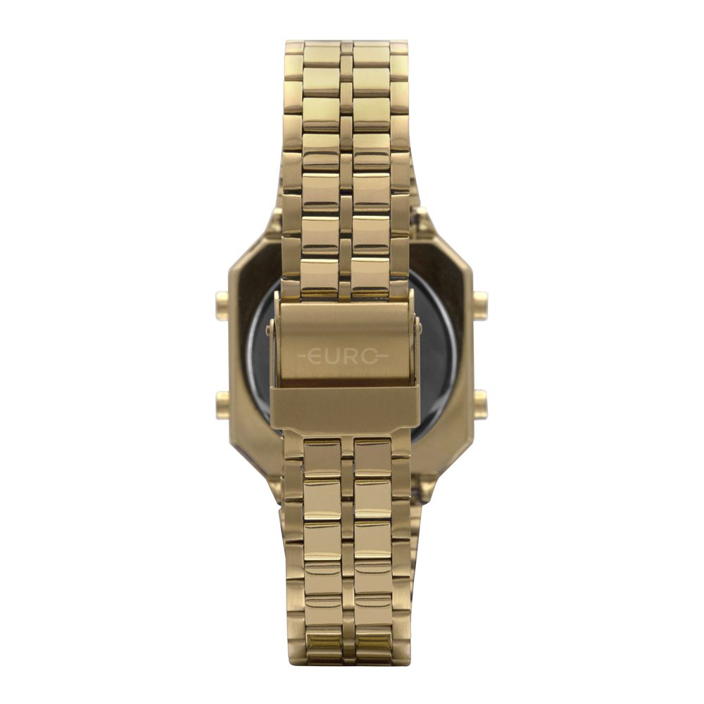 Relógio Euro Fashion Fit Diamond Dourado Feminino  EUBJK032AB/4P