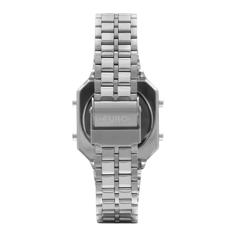 Relógio Euro Fashion Fit Diamond Prata Feminino  EUBJK032AD/3P