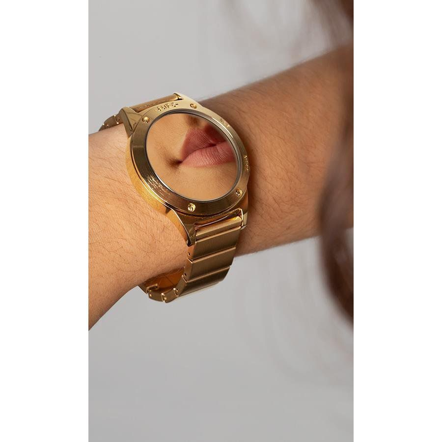 Relógio Euro Fashion Fit Reflexos Feminino Dourado EUJHS31BAB/4D